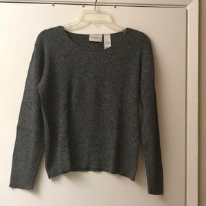Liz Claiborne Gray Cotton Sweater